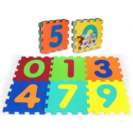 Puzzle piankowe 6 elementów Liczby