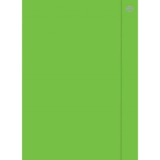 Teczka z gumką A4+ Fluo zielona (10szt)