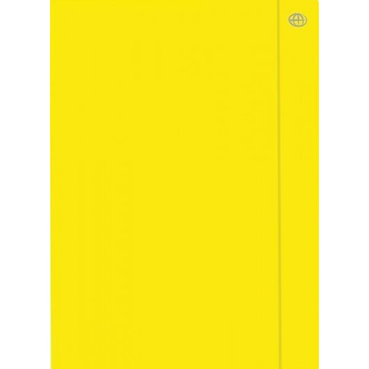 Teczka z gumką A4+ Fluo żółta (10szt)