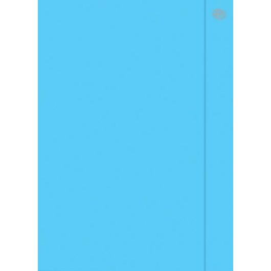 Teczka z gumką A4+ Fluo niebieska (10szt)