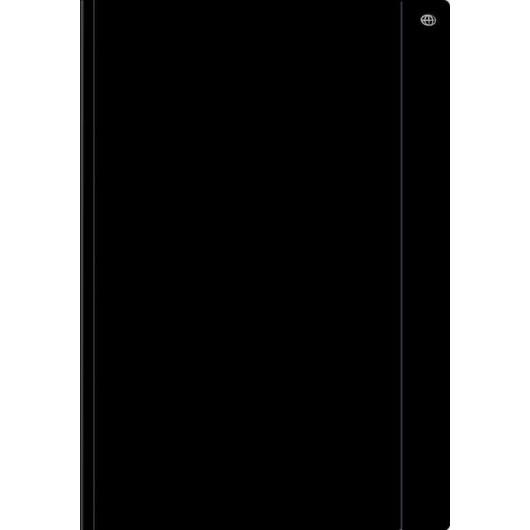 Teczka z gumką A4+ jednokolorowa czarna (10szt)