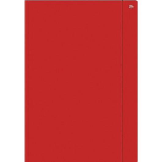 Teczka z gumką A4+ jednokolorowa czerwona (10szt)