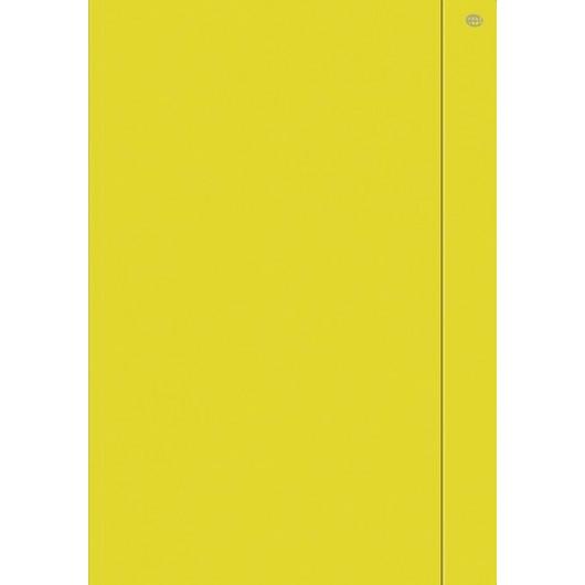 Teczka z gumką A4+ jednokolorowa żółta (10szt)