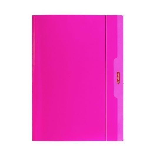Teczka A4 z gumką różowy Color Blocking