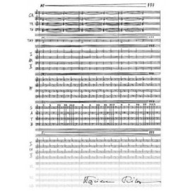 Teczka biała z motywem nutowym - Wojciech Kilar