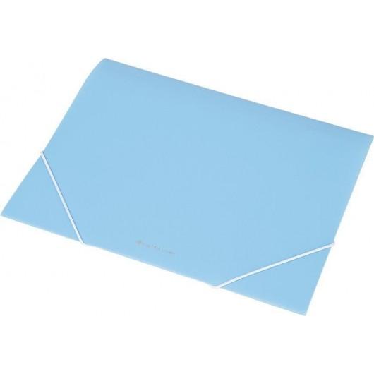 Teczka na gumkę A4 transparentna EX4302 niebieska