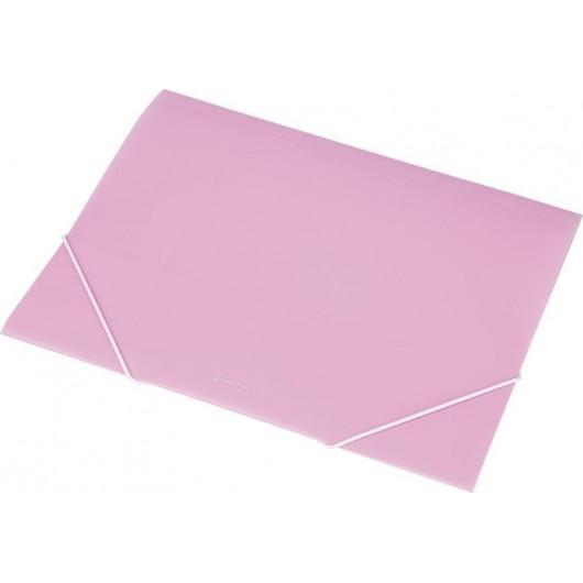 Teczka na gumkę A4 transparentna EX4302 różowa