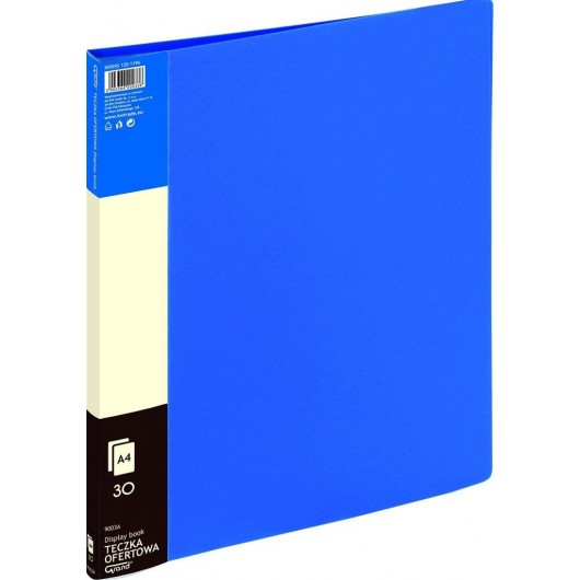 Teczka ofertowa 30 koszulek niebieska GRAND