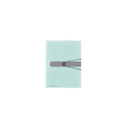 Teczka A4 z gumką PP trans. pastel miętowy
