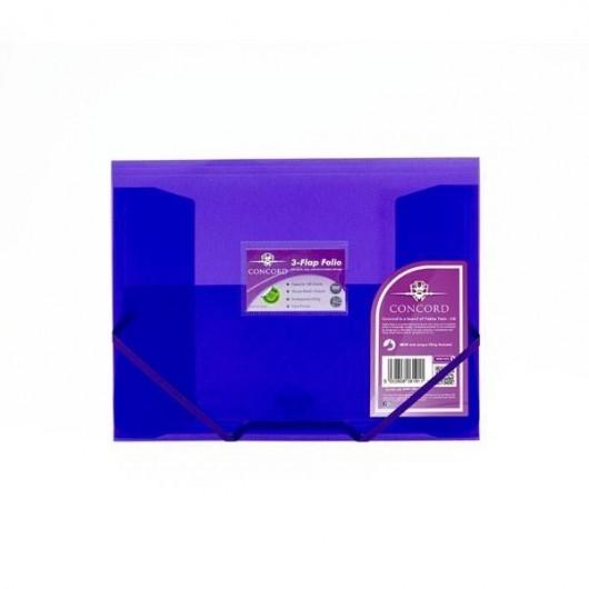 Teczka PP A4 z gumką fioletowy (5szt) PUKKA