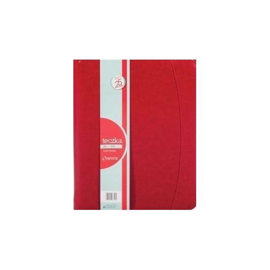 Teczka A4 709 czerwona na suwak ANTRA