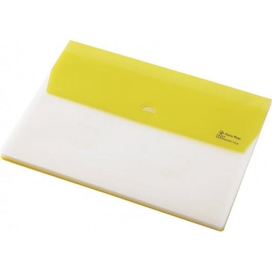 Folder A4 z 5 przegrodami Focus żółty