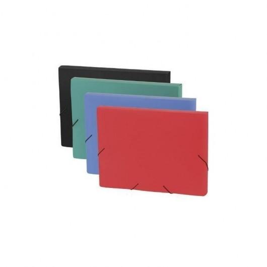 Teczka Box A4 na gumkę czerwony