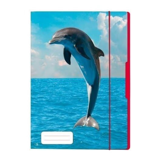 Teczka rysunkowa A4 z gumką Delfin