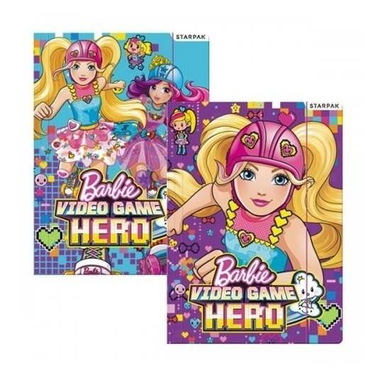 Teczka z gumką A4 Barbie Video Games