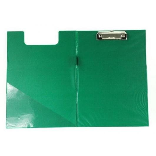 Deska A4 PVC z klipem i okładką zielona D.RECT