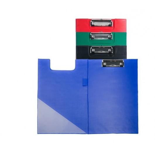 Deska A5 PVC z klipem i okładką czerwona D.RECT
