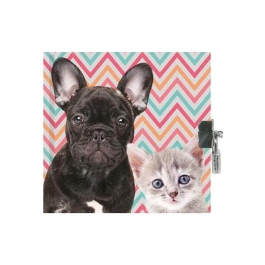 Pamiętnik z kłódką Dog & Cat
