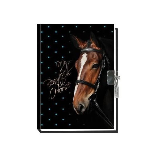 Pamiętnik z kłódką My Beautiful Horse pachnący
