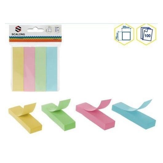 Karteczki samoprzylepne 7,5x2cm 4 kolory
