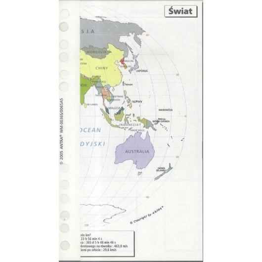 Wkład do organizera A5 mapa świata ANTRA
