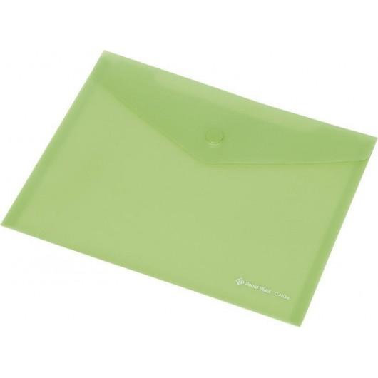 Koperta Focus C4535 A4 przezroczysta zielona