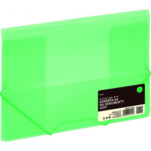Koperta A4 na gumkę zielona GRAND