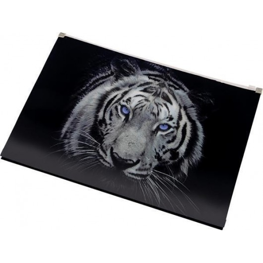 Koperta z nadrukiem zip A4 PP Tiger