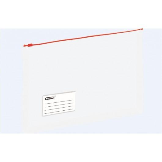 Koperta A4 na dokumenty struna czerwona GRAND
