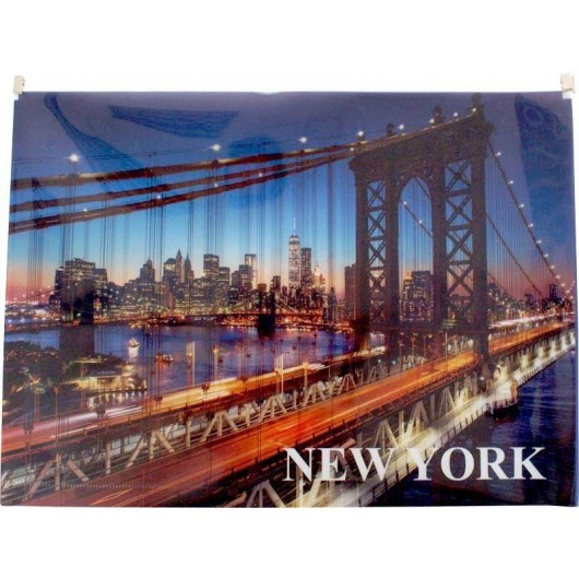 Koperta z nadrukiem zip A4 PP New York