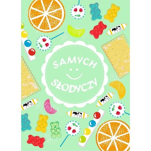 Karnet B6 Urodziny Słodycze