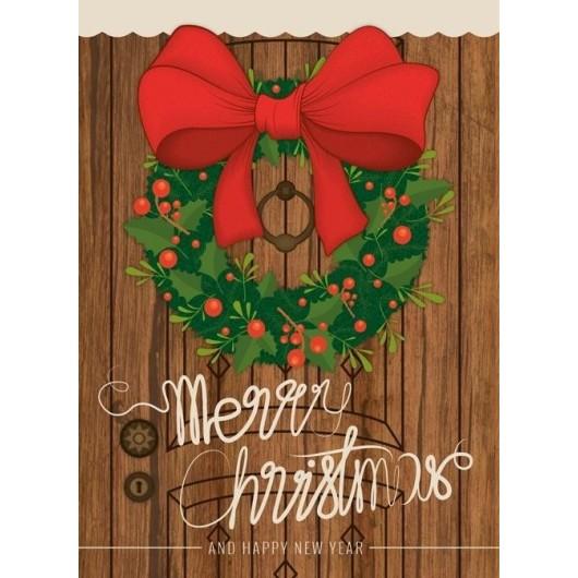 Karnet B6 Boże Narodzenie - Kokarda (10szt)