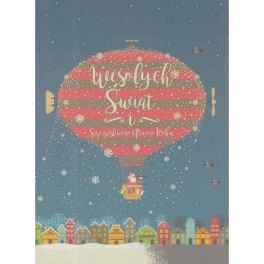 Karnet B6 Boże Narodzenie - Balon (10szt)