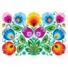 Pocztówka - Nr.5 Kodra z kwiatami biała FOLKSTAR
