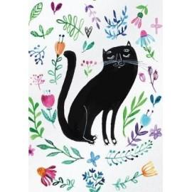 Karnet B6 Kot czarny