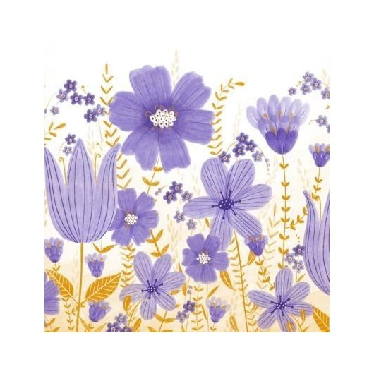 Karnet Kwiaty fiolet