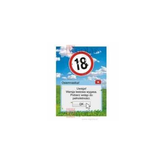Karnet B6 18-te urodziny Wersja testowa