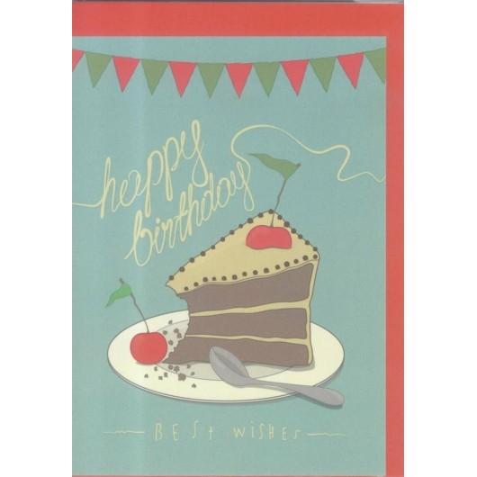 Karnet B6 Urodziny. Tort