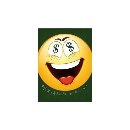 Karnet B6 Emotikony. Pieniądze