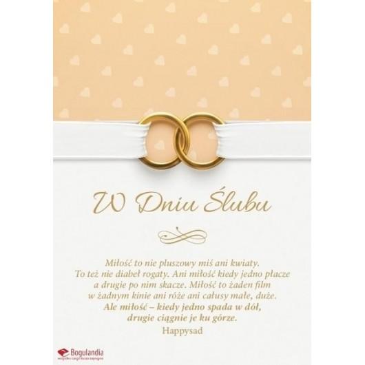 Kartka Ślub - Miłość to nie pluszowy miś
