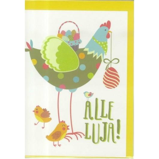 Karnet B6 Wielkanoc. Kura
