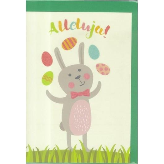 Karnet B6 Wielkanoc Żongler
