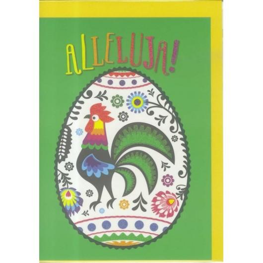 Karnet B6 Wielkanoc. Pisanka Kogut