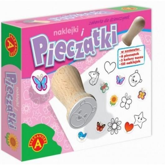 Pieczątki i naklejki. Zabawki dla dziewczynek
