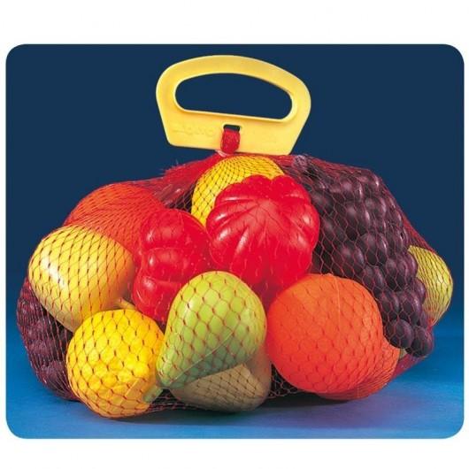 Siatka z owocami i warzywami