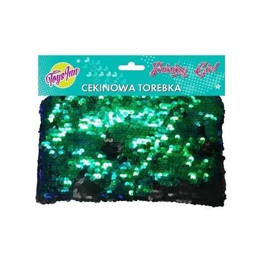 Torebka cekinowa zielono- czarna