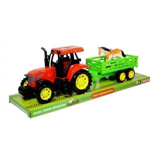 Moje gospodarstwo - Traktor z przyczepą i koniem