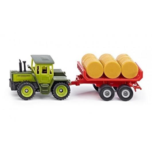 Siku 16 - Traktor MB z przyczepą do belek S1670