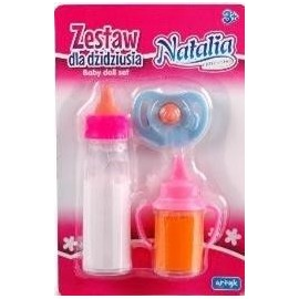 Zestaw dla dzidziusia 2 butelki+smoczek NATALIA