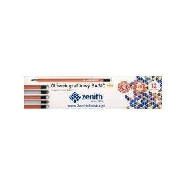 Ołówek Basic trójkątny z gumką HB (12szt) ZENITH
